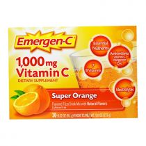 Emergen-C, 1.000 mg Vitamin C, Super Orange, 30 Päckchen, jeweils 9,1 g