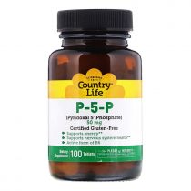 Country Life, P-5-P, 50 mg, 100 Tabletten