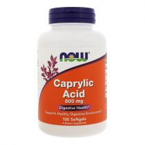 Now Foods, Caprylsäure, 600 mg, 100 Softgelkapseln