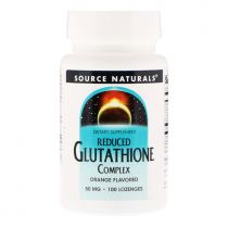 Source Naturals, Reduced Glutathione Complex, Orange Geschmack, 50 mg, 100 Lozenges