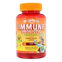 Vitamin Friends, Immune Probiotik vegan Gummies, Orange, 60 Gummies