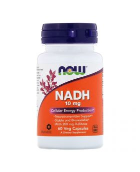 Now Foods, NADH, 10 mg, 60 pflanzliche Kapseln