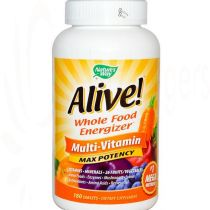 Nature's Way, Alive! Whole Food Energizer, Multi-Vitamin, Max Potency, 180 Tablets