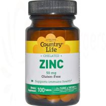 Chelatisiertes Zink 50 mg, Country Life