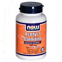 Acetyl-L-Carnitine, Now Foods, 500mg 100 Caps