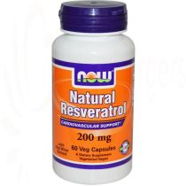 NATÜRLICHES RESVERATROL, 60 VCAPS  200 mg,  Now Foods