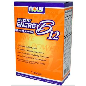 Instant Energy B-12, Now Foods 75 Packs